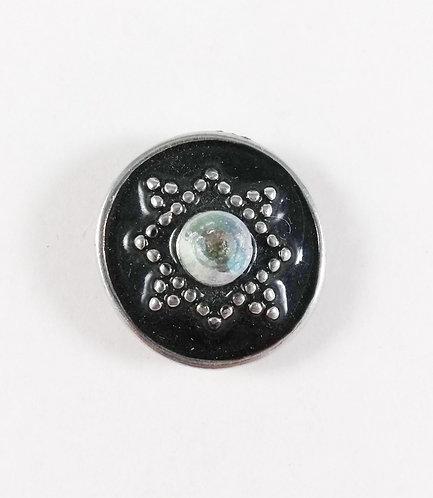 Bouton pression (snap) Nomaad Interchangeable, Cristal fond noir