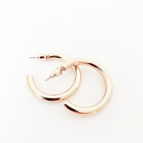Boucles d'oreille Caracol, Anneau, Or rose lustré, 2439-RGD