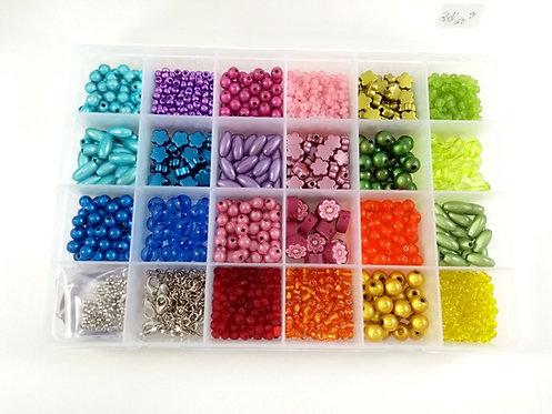 Coffret de fabrication de bijoux: Multicolore