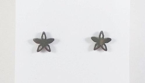Boucles d'oreille acier inoxydable ''Fleur étoilée''