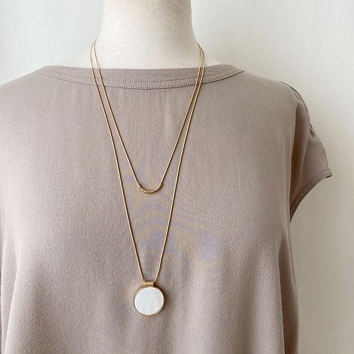 Collier long Caracol, Nacre de perle, Or, 1408-WTE-G