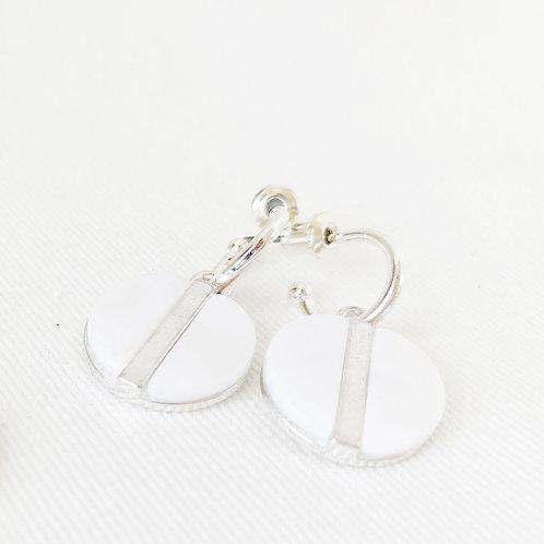 Boucles d'oreille Caracol, Nacre de perle, Argent, 2407-WTE-S