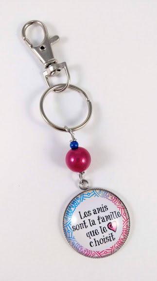 Porte-clés ''Les amis sont la famille que le coeur choisit'' (#58)