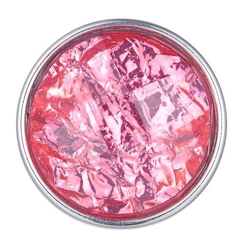 Bouton pression (snap) Nomaad Interchangeable, Cristal facetté, Corail