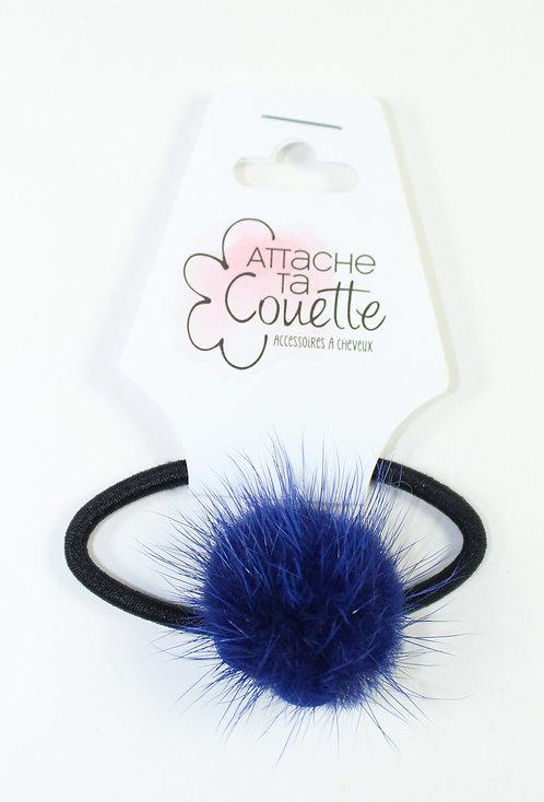 Élastique pour cheveux ''Attache ta couette'' fourrure, marine