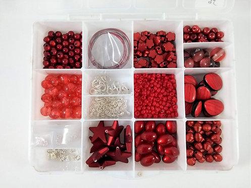 Coffret de fabrication de bijoux, Rouge
