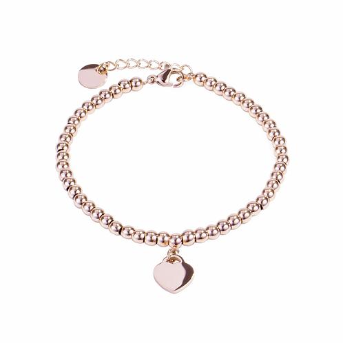 Bracelet Mia, 'Love goals', Acier inoxydable, Or rose