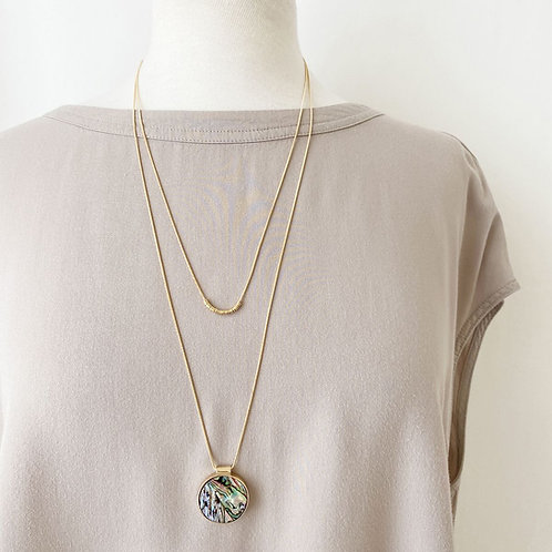 Collier long Caracol, Abalone, Or, 1408-MIX-G