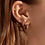 Thumbnail: Boucles d'oreilles Mia, Dormeuse chic ''Stacks'', Acier inoxydable, Or