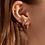 Thumbnail: Boucles d'oreilles Mia, Dormeuse chic ''Stacks'', Acier inoxydable, Or rose