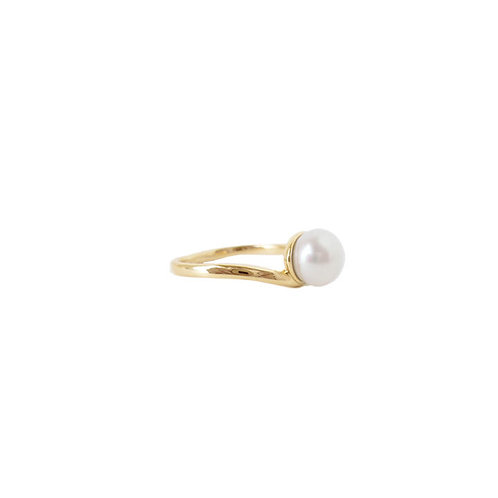 Bague Caracol, Perle blanche, Or, 4078-GLD
