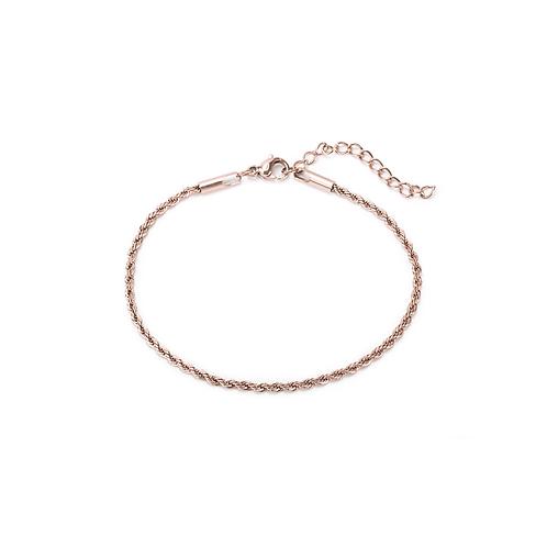 Bracelet Mia chaîne torsadée, Acier inoxydable, Or rose