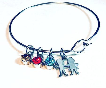 Bracelet famille Olfée (Base) Acier inoxydable