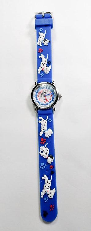 Montre pour enfant, Chien dalmatien, bleu royal #20
