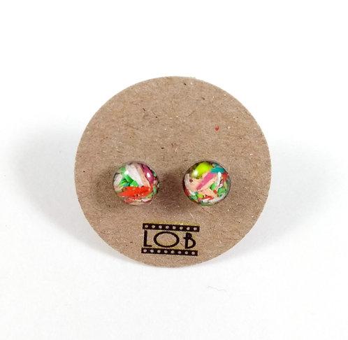 Boucles d'oreille LOB-crayons recyclés (Multicolore #9)