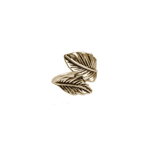 Bague Caracol, Feuillage, Or, 4137-GLD