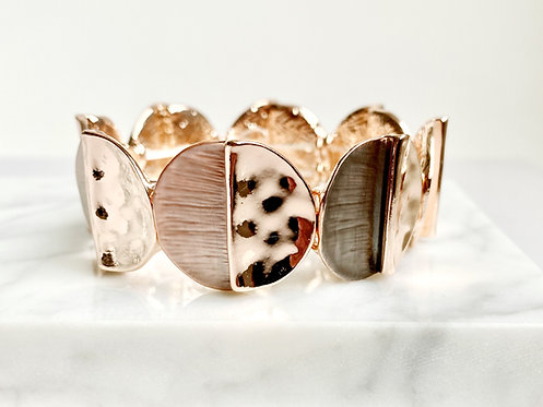 Bracelet élastique Caracol, Cercle de métal, Or rose, 3172-RGD