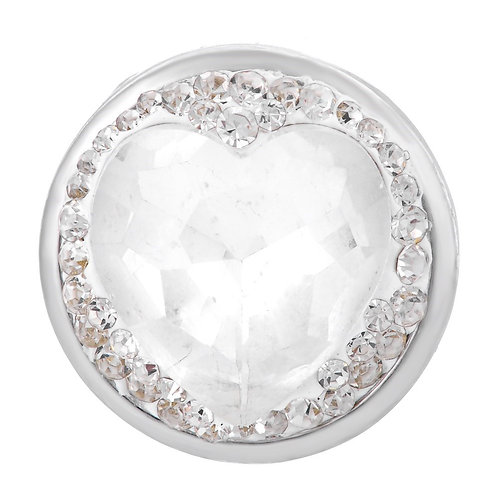 Bouton pression (snap) Nomaad Interchangeable, Coeur cristal