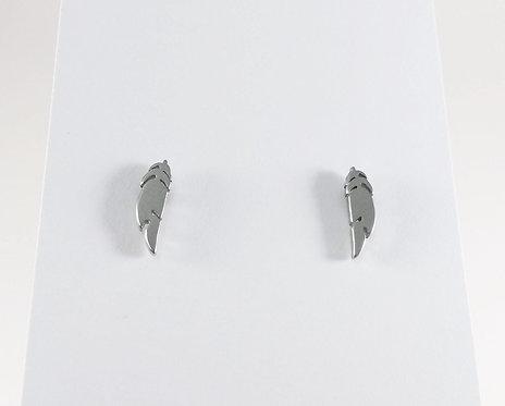 Boucles d'oreille acier inoxydable ''Plume''