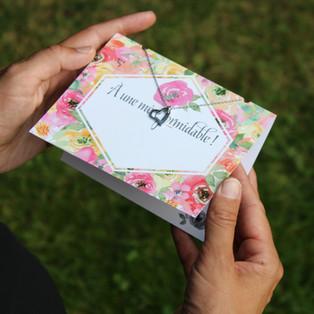 Cartes de souhait avec collier