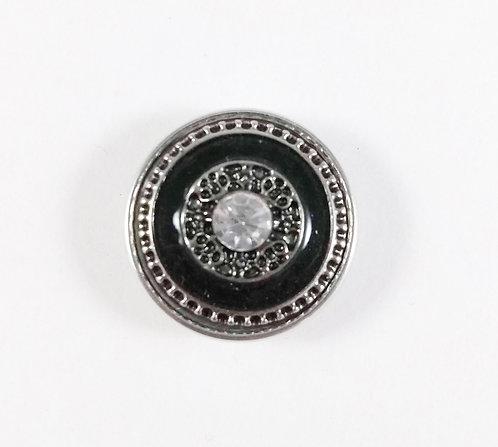 Bouton pression (snap) Nomaad Interchangeable, cristal, contour noir et métal