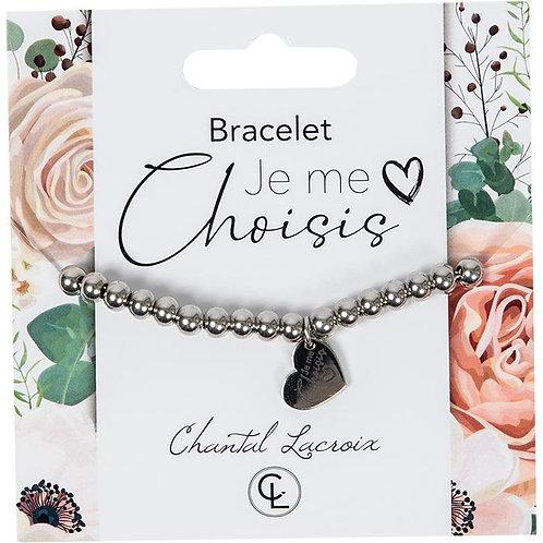 Bracelet Chantal Lacroix ''Je me choisis'', acier inoxydable
