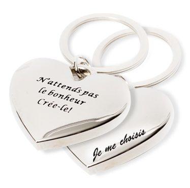 Porte-clés Chantal Lacroix, ''Le bonheur/Je me choisis''