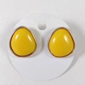 Boucles d'oreille Spounik: Jaune, contour or