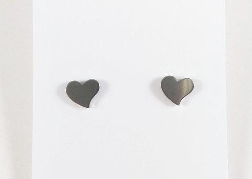 Boucles d'oreille acier inoxydable ''Coeur''
