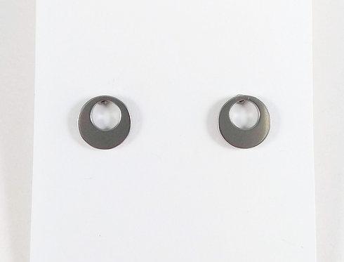 Boucles d'oreille acier inoxydable ''Cercle ajouré''