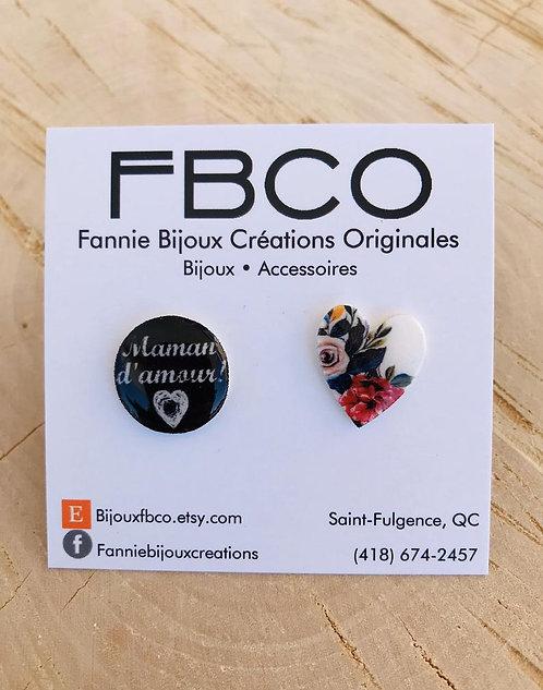 Boucles d'oreille FBCO ''Maman d'amour''