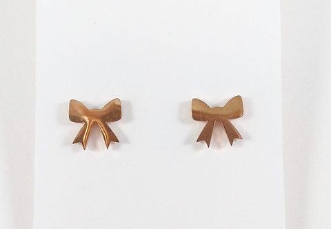 Boucles d'oreille acier inoxydable ''Boucles or rose''