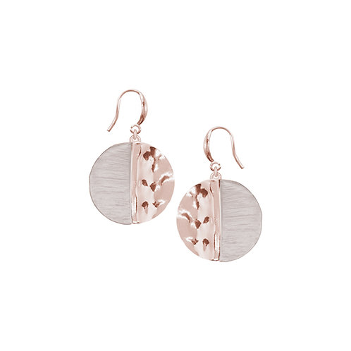 Boucles d'oreille Caracol, Cercle, Or rose, 2382-RGD