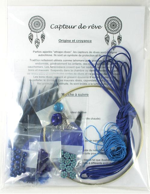 Trousse de fabrication de capteur de rêve: Bleu royal