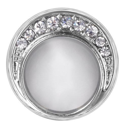 Bouton pression (snap) Nomaad Interchangeable, Pierre blanche avec cristaux
