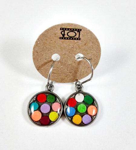 Boucles d'oreille LOB-crayons recyclés (Multicolore #2)