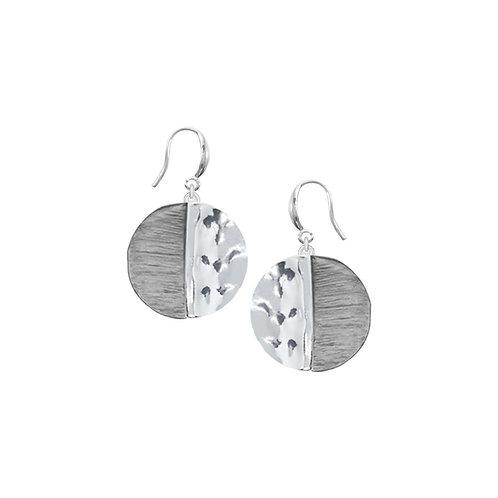 Boucles d'oreille Caracol, Cercle, Gris, 2382-GRY