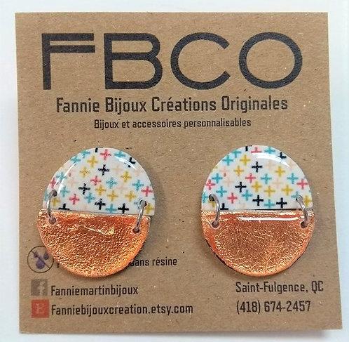 Boucles d'oreille FBCO ''Agnès''