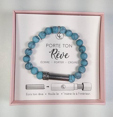 Bracelet Chantal Lacroix, ''Porte ton rêve'', Chance, Turquoise