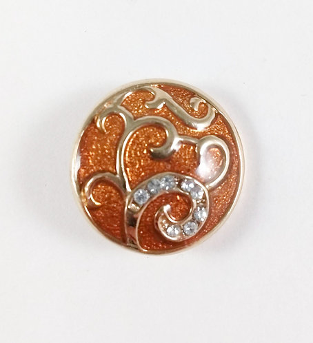Bouton pression (snap) Nomaad Interchangeable, Arabesque or, fond bronze