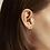 Thumbnail: Boucles d'oreilles Mia, chaîne Empire, Acier inoxydable, Or