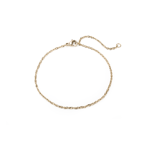 Bracelet Mia chaîne Singapore, Acier inoxydable, Or
