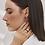 Thumbnail: Boucles d'oreilles gravité, Acier inoxydable, Argenté et noir