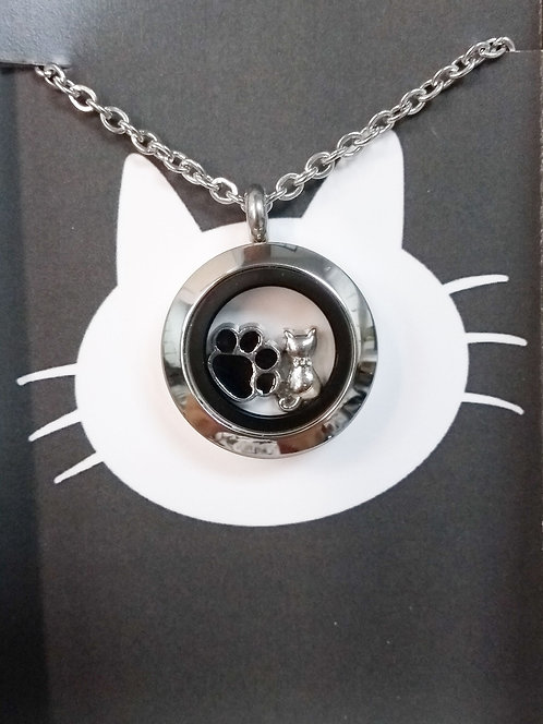 Médaillon thématique : chat et patte