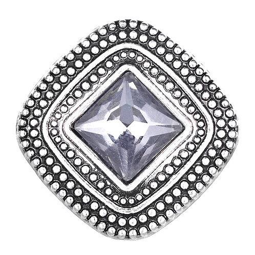 Bouton pression (snap) Nomaad Interchangeable, Carré cristal