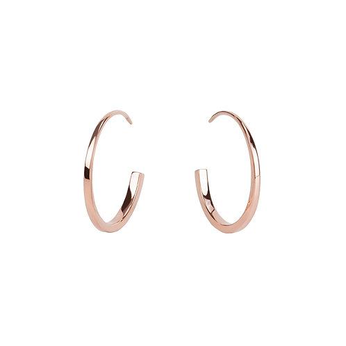 Boucles d'oreilles Mia, Anchor, Acier inoxydable, Or rose