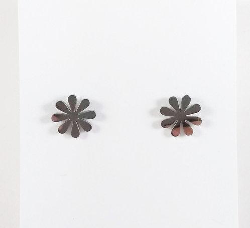 Boucles d'oreille acier inoxydable ''Fleur''
