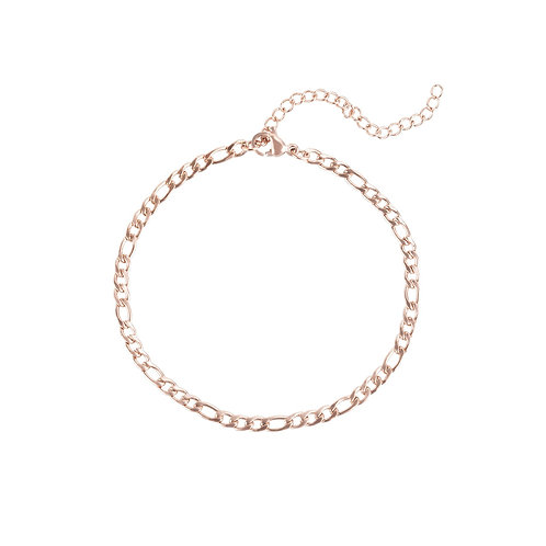 Bracelet Mia Figaro, Acier inoxydable, Or rose