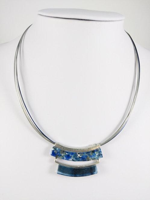 Collier Créart, Axia double, Bleu
