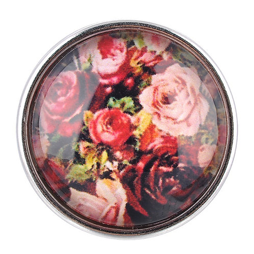 Bouton pression (snap) Nomaad Interchangeable, Motif rose